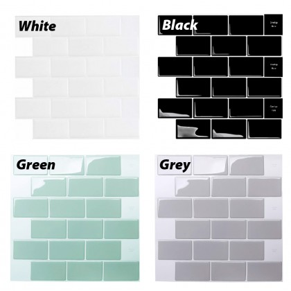 12x12 inch Wall Tile Sticker Waterproof  Removable Stick Peel Off Kitchen Decor