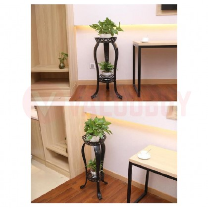 Round Stand Flower Bulat Vintage Bunga Decoration Home Deco
