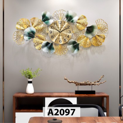 Iron Wall With Deco With Clock Jam Dinding